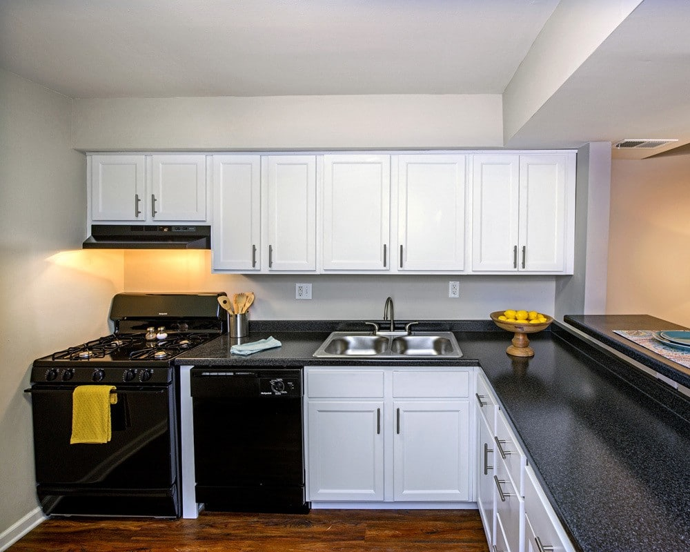 Kitchen in our luxury apartment in in Pittsburgh, PA