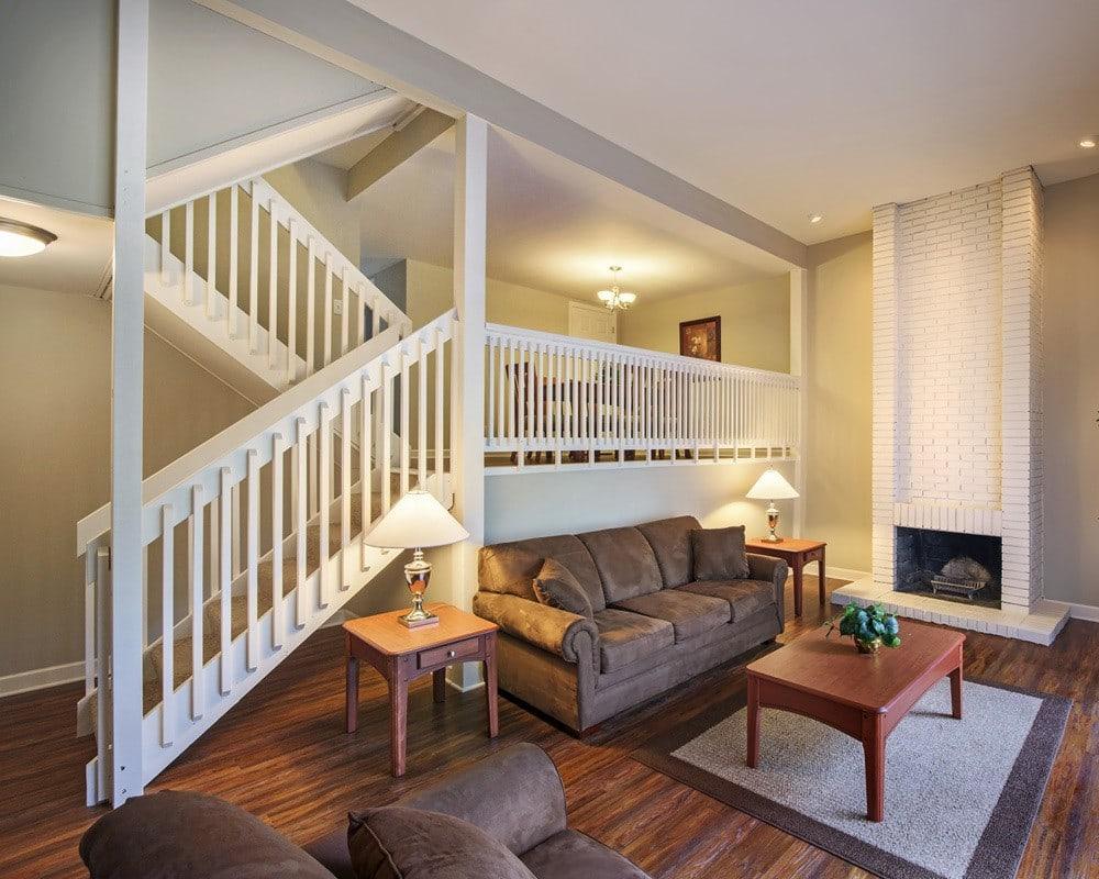 Living Room at Nineteen North Apartments