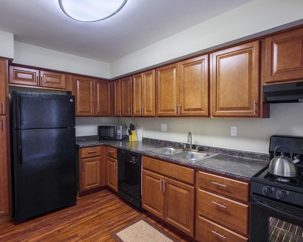 Example kitchen at Nineteen North Apartments