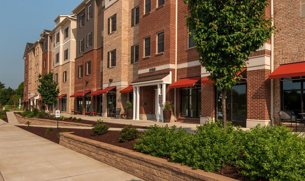 Luxury living room at Cranberry Township, PA apartments