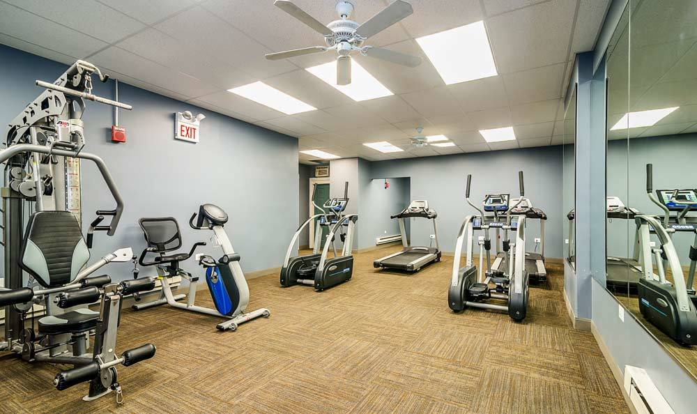 Exercise equipment at apartments in Chicago