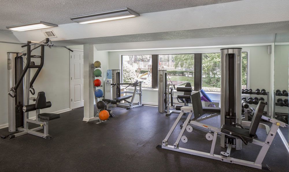 Fitness center at our apartments for rent in Raleigh