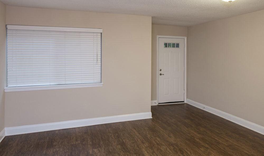 Hardwood floors in our luxury apartments