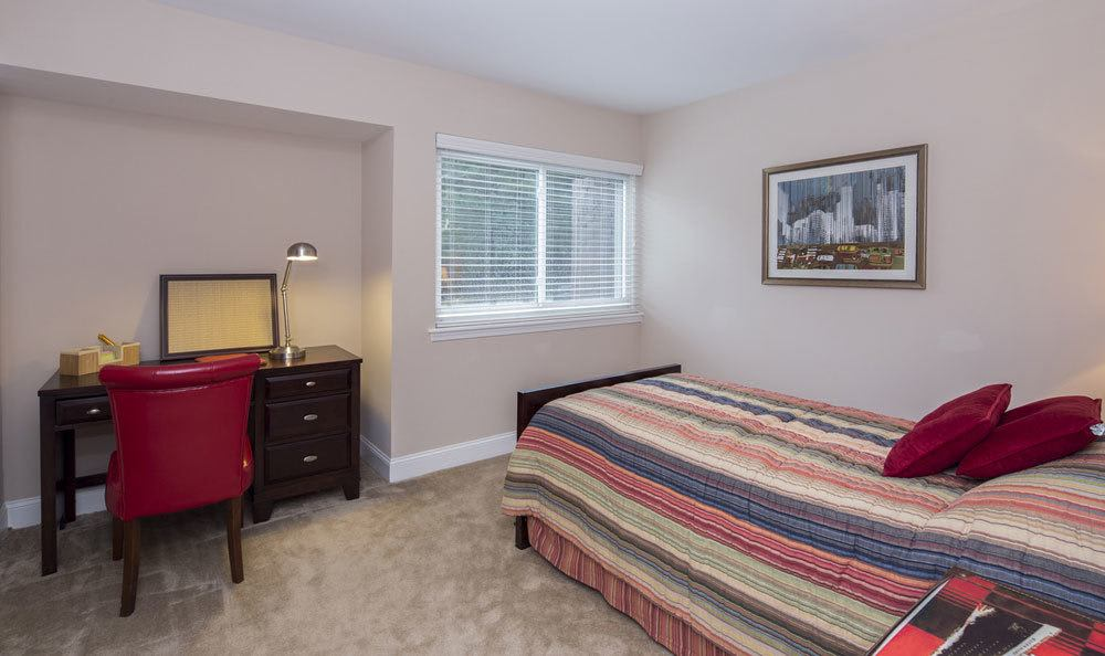 Comfortable bedrooms in our apartments in Raleigh, NC
