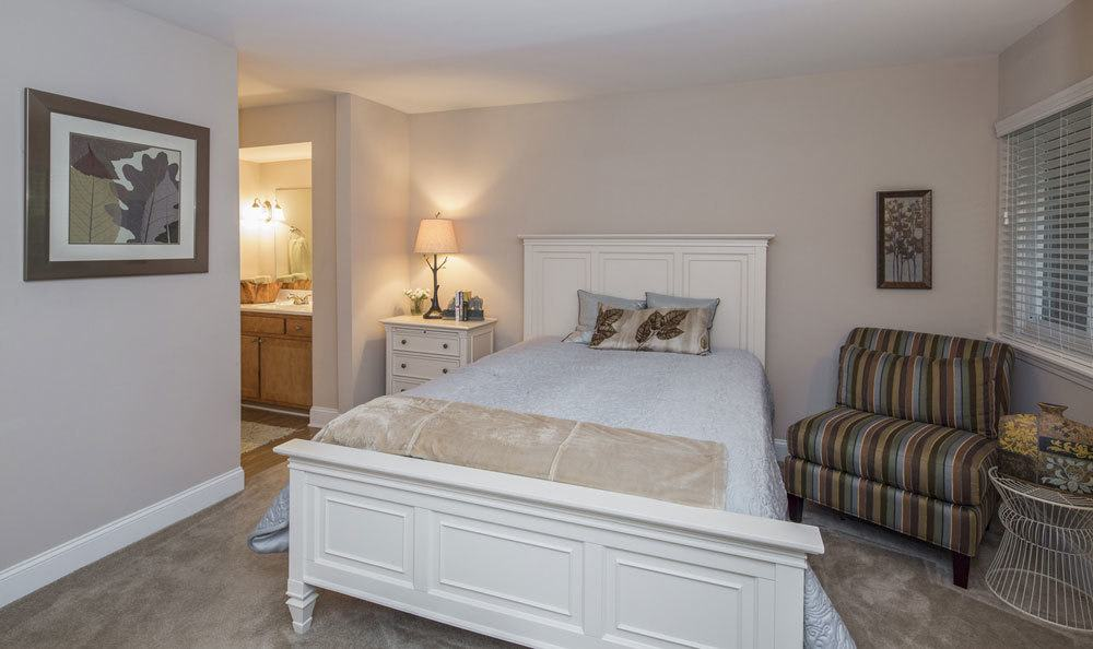 Spacious bedrooms in our apartments in Raleigh, NC
