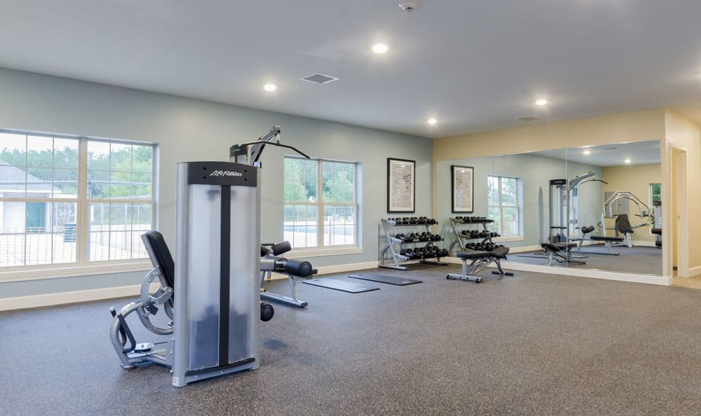 Apartments in Merrillville features a fitness area