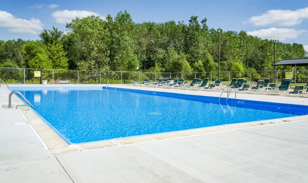 Pool at apartments in Merrillville