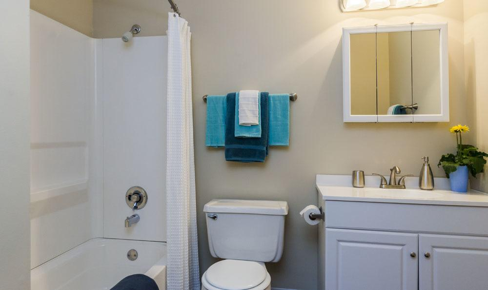 Example bathroom at apartments in Merrillville