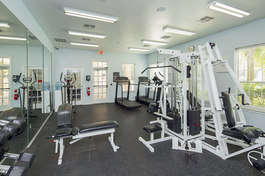 Fitness Center at our apartments in in Texas City, TX