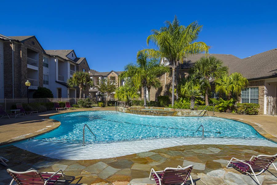 A swimming pool is onsite for your enjoyment at Veranda in Texas City, TX