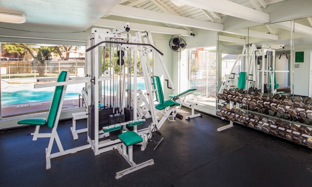 University Green apartments includes a fitness center in Houston TX