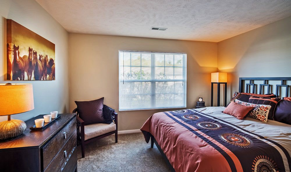 Example bedroom at apartments  in Presto, PA