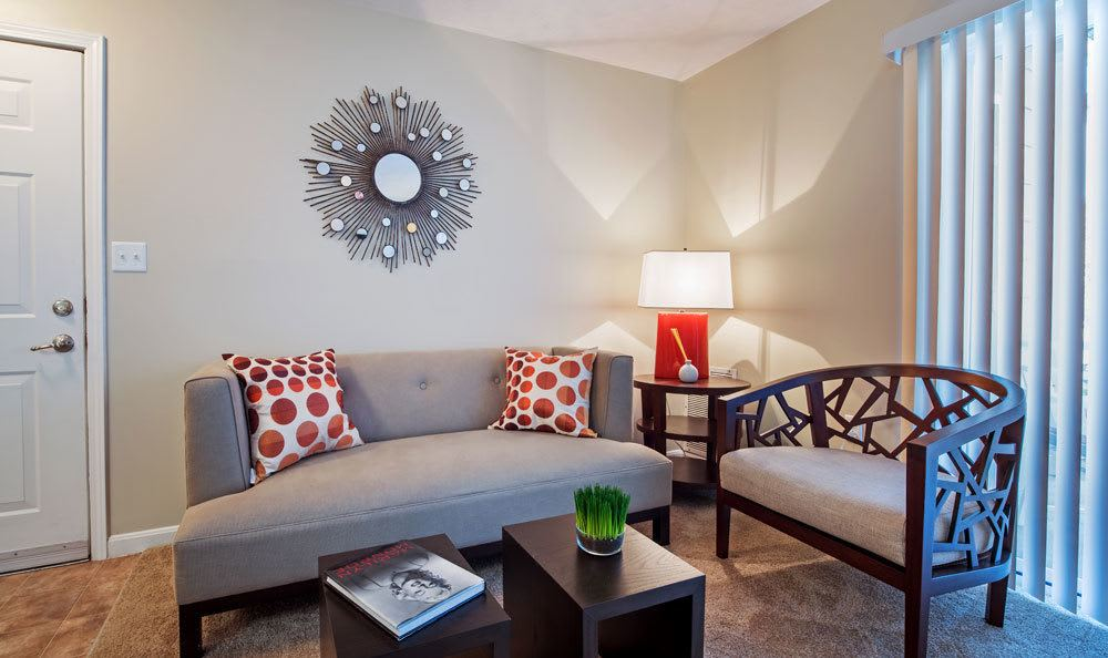 Example living room at apartments in  in Presto, PA