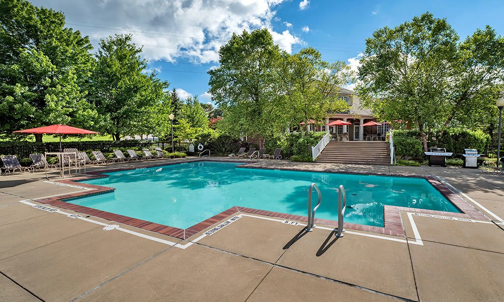 A sparkling pool is just one of the many amenities that Waterford Nevillewood Apartments has to offer in Presto, PA