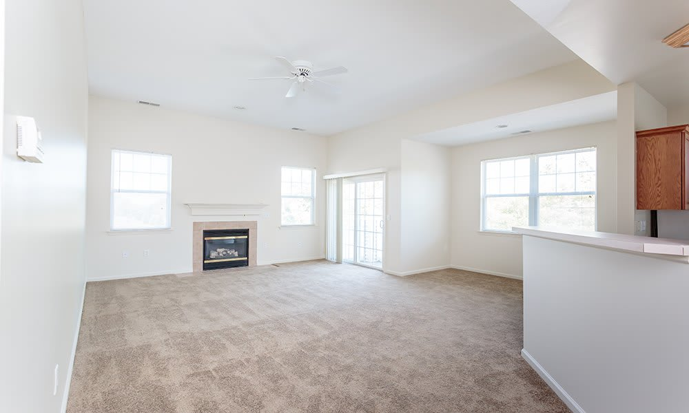 Spacious living room in our apartments in Webster NY