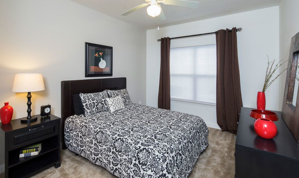 Model bedroom at Crescent at Wolfchase in Memphis, TN
