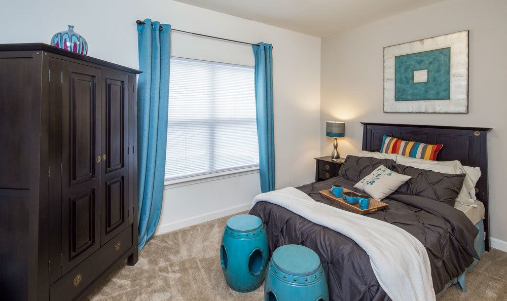 Example bedroom at apartments in Memphis