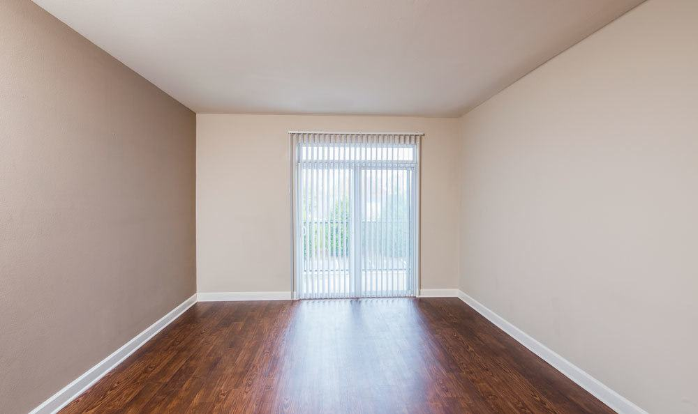 Example Living Room with hardwood floors at Crescent at Wolfchase