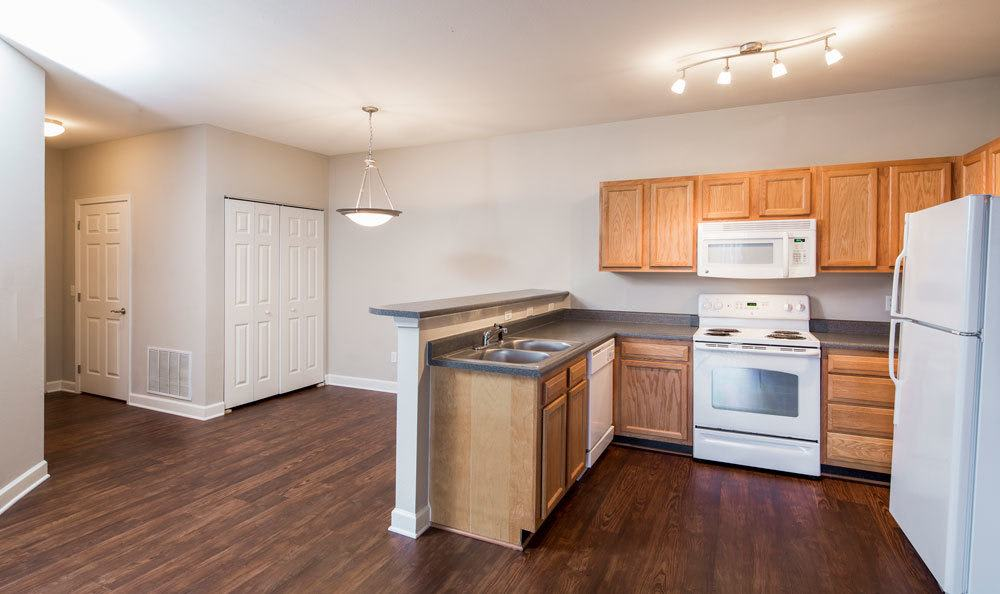 Nice hardwood floors in our Memphis, TN apartments