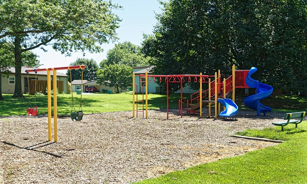 Community childrens play structure at Eagle Meadows Apartments in Dover, DE