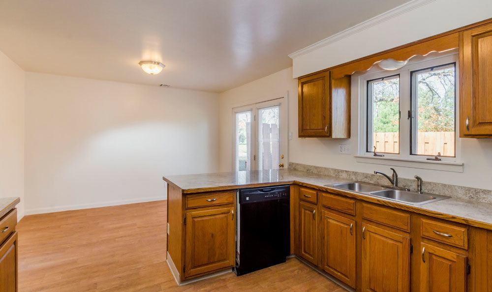 spacious kitchen at Eagle Meadows Apartments in Dover, DE