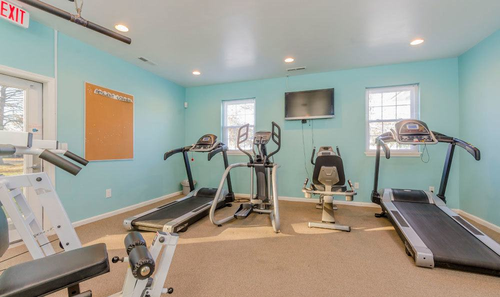 fitness center at Eagle Meadows Apartments in Dover, DE