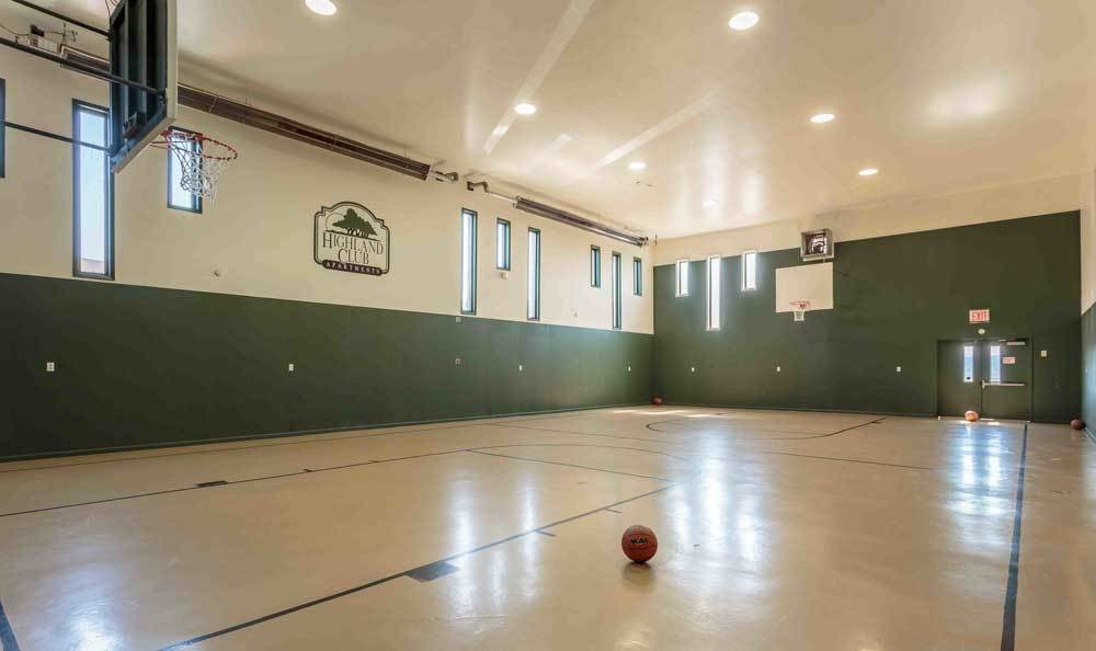 A basketball court is just one of the many amenities that Highland Club has to offer