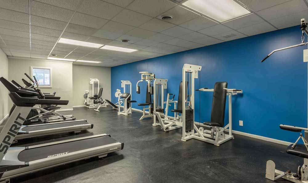 Stay healthy in our well equipped fitness center at Highland Club