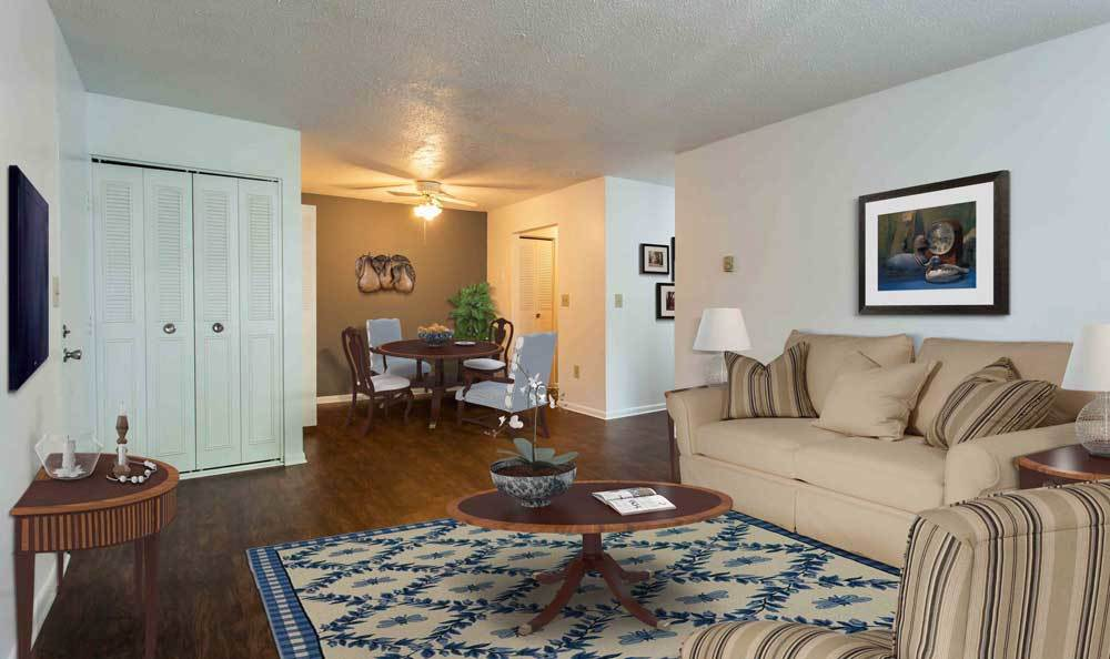 Spacious floor plans at the apartments for rent in Watervliet