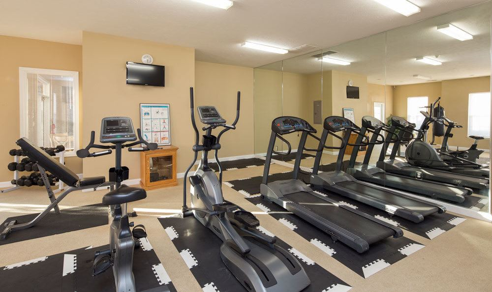 Stay healthy in our fitness center at Main Street Apartments