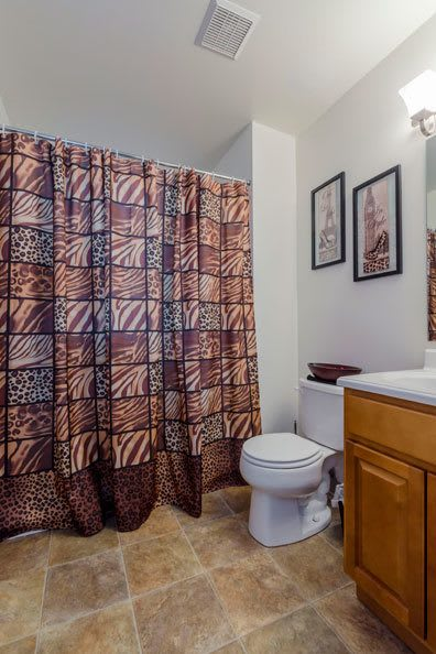 Example bathroom at apartments in Dover