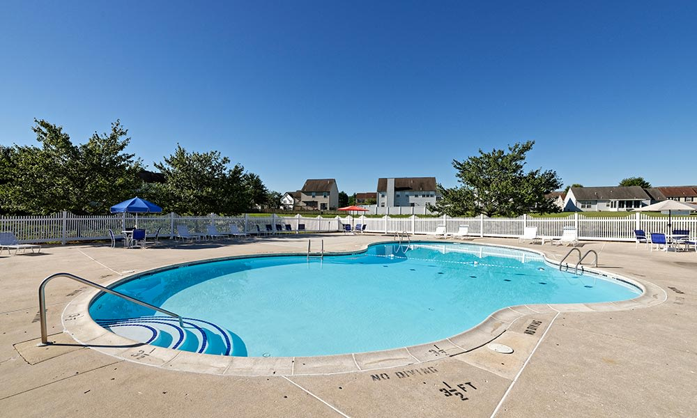 A sparkling pool is just one of the many amenities that Village of Westover has to offer.