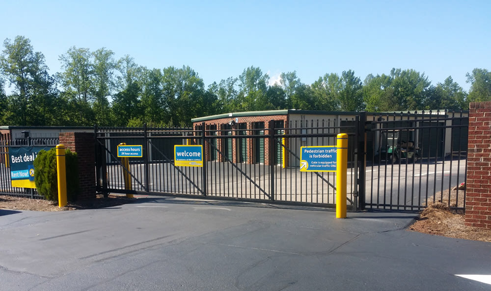 Gated self storage facility in Wendell, NC