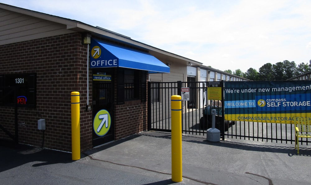 Front Entrance at Compass Self Storage in Goldsboro, NC