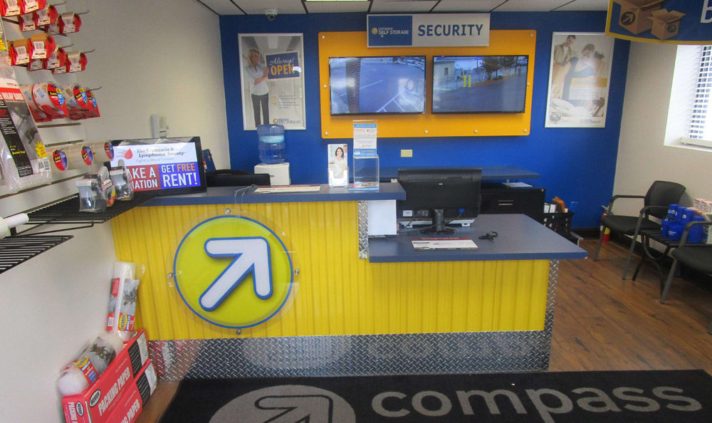 Leasing Desk at Compass Self Storage in Goldsboro, NC