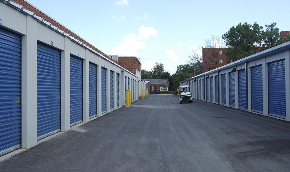 Drive Up Storge Units at Compass Self Storage in McKinney, TX
