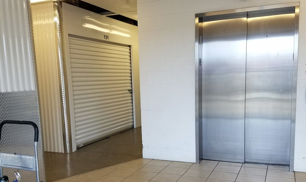 Interior Elevator at Compass Self Storage in Smyrna