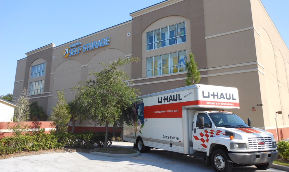 Moving trucks at Compass Self Storage in Sarasota,FL