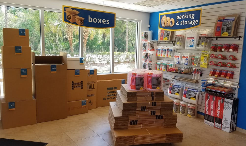 Packing and moving supplies at Compass Self Storage in Sarasota,FL