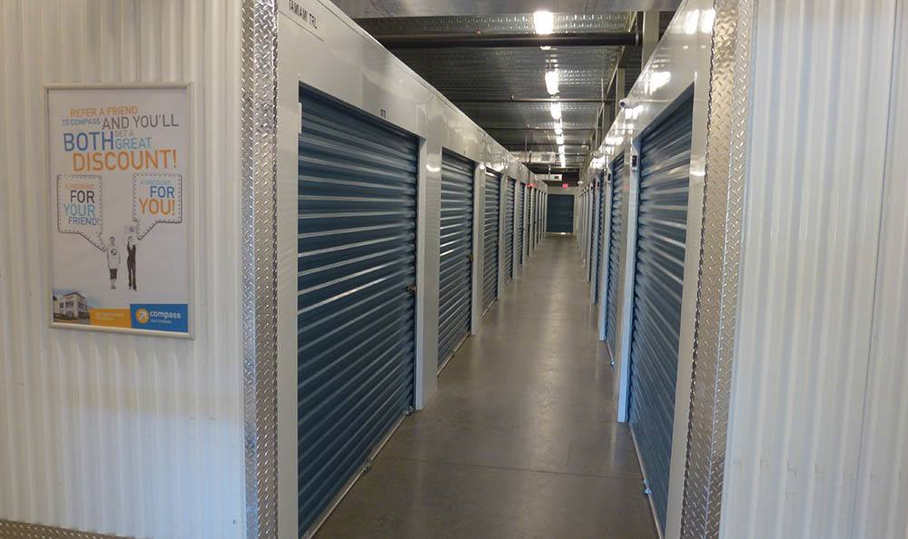 Interior storage units at Compass Self Storage in Sarasota,FL