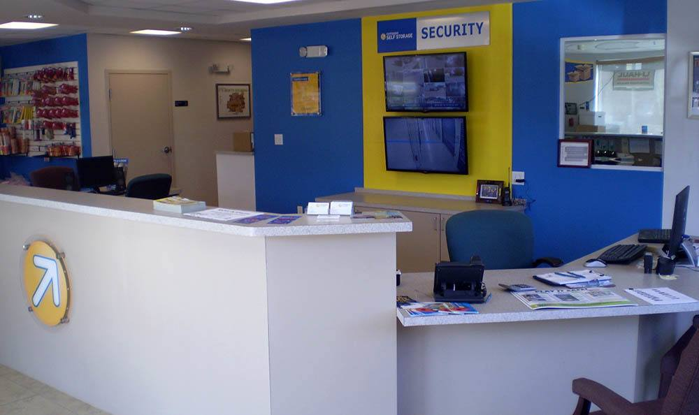 Office interior at Compass Self Storage in Sarasota, FL