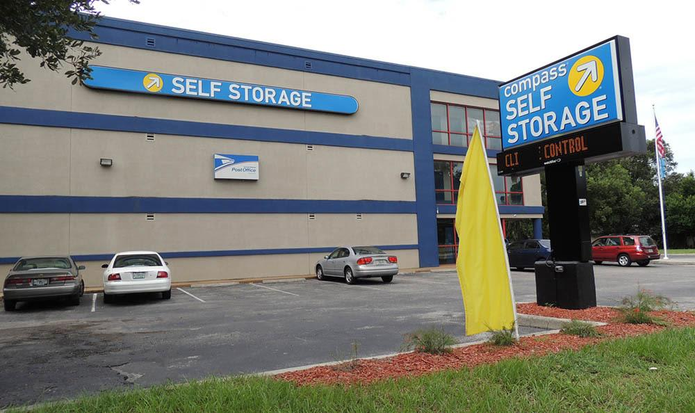 Office Exterior at Compass Self Storage in Tampa, FL