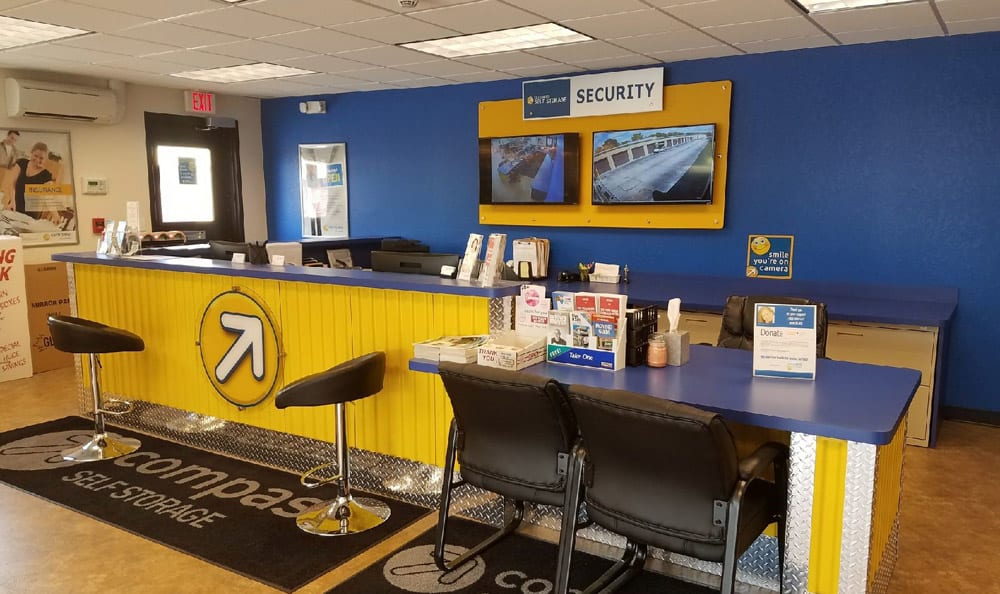 Leasing Desk at Compass Self Storage in Spring Hill, FL