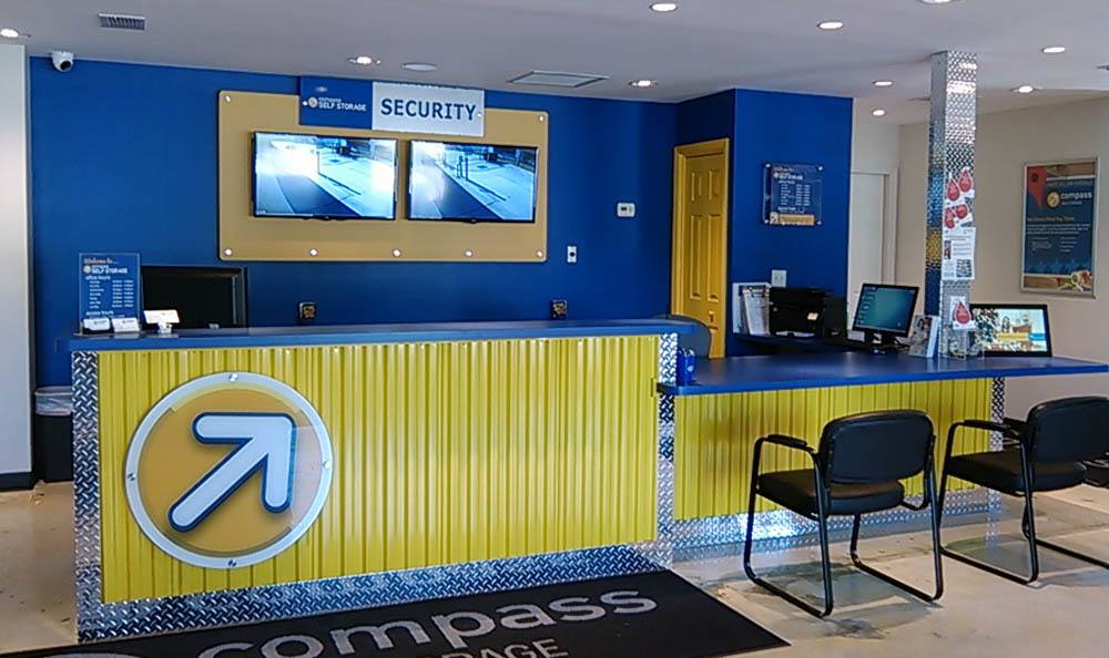 Interior Of Leasing Office at Compass Self Storage in Jacksonville, FL