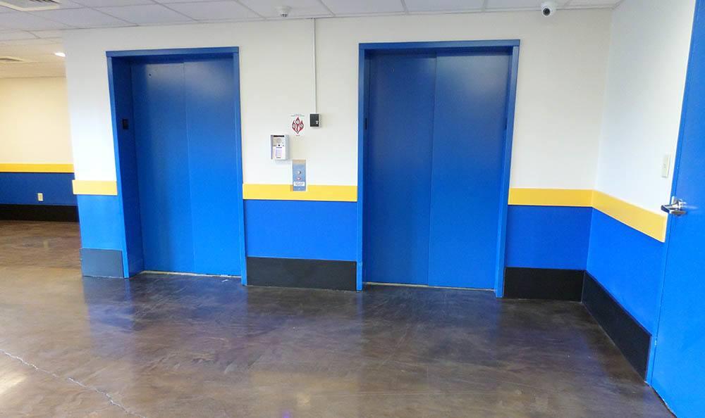 Elevators at Compass Self Storage in Fernandina Beach, FL