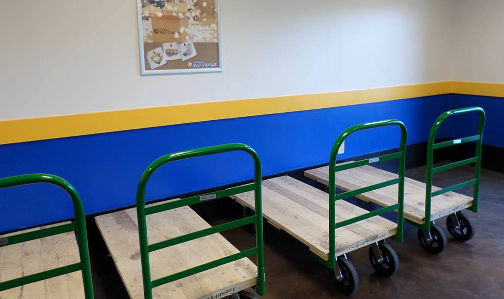 Moving Carts at Compass Self Storage in Fernandina Beach, FL