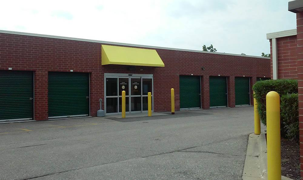 Exterior of storage units at Compass Self Storage in Novi, MI