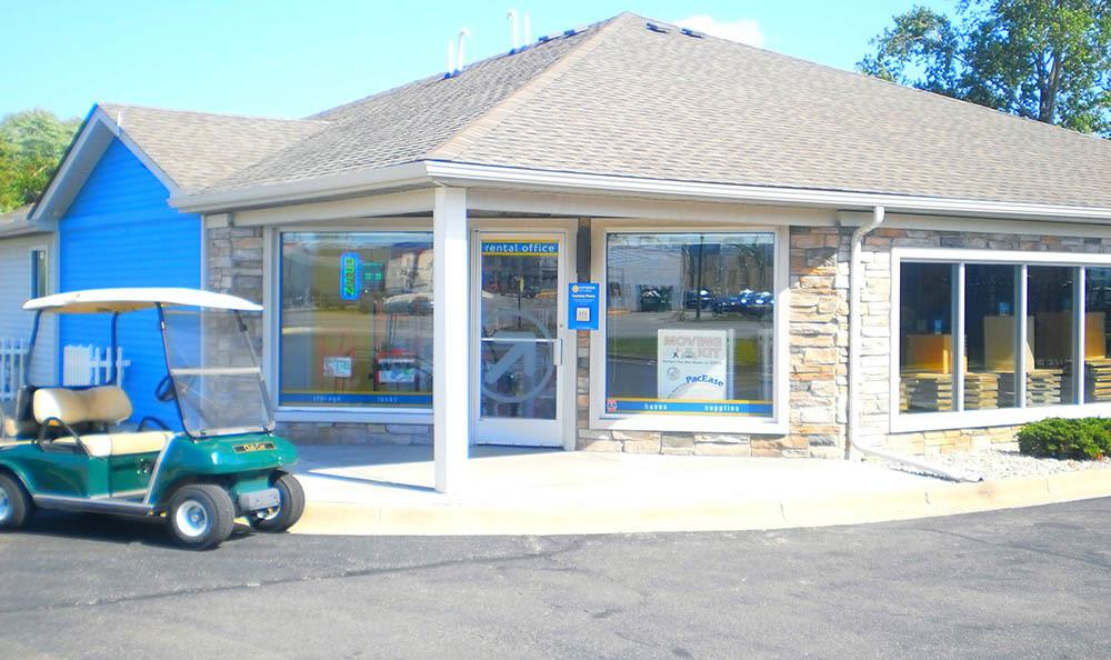 Exterior Of Leasing Office at Compass Self Storage in Fraser, MI