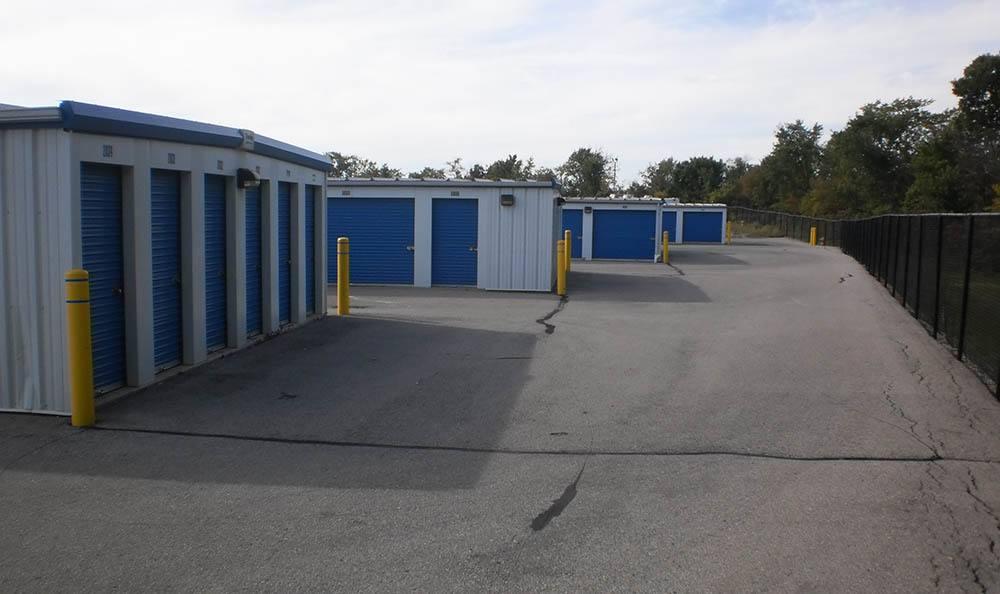 Exterior Drive Up Storage Units at Compass Self Storage in Flat Rock, MI