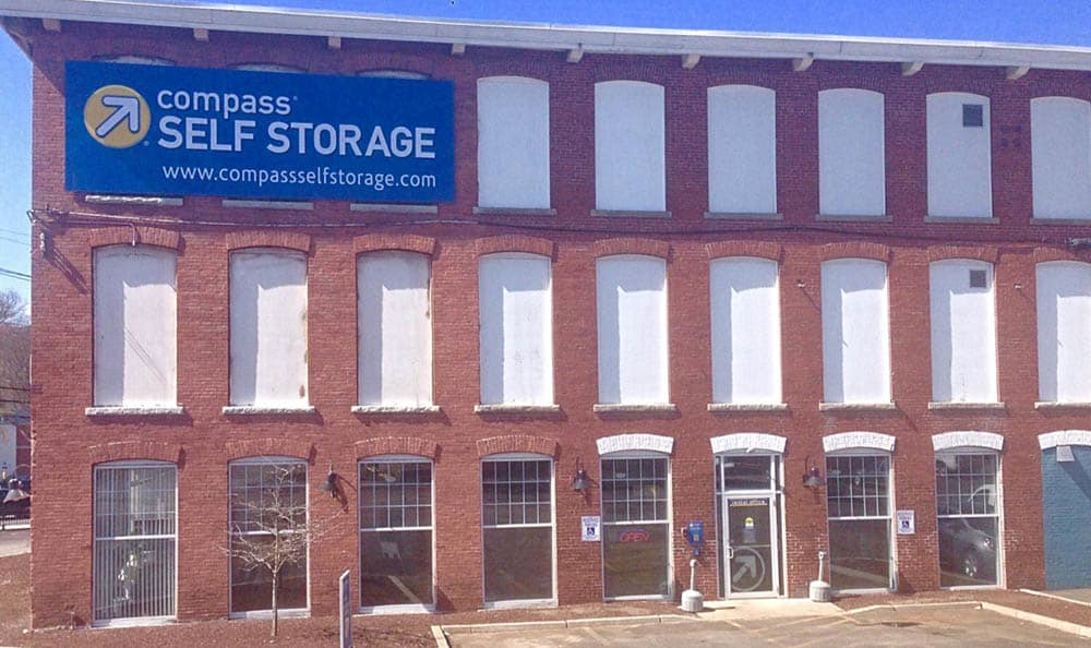Exterior Of Storage Units at Compass Self Storage in Providence, RI